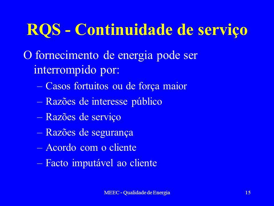 RQS - Continuidade de serviço