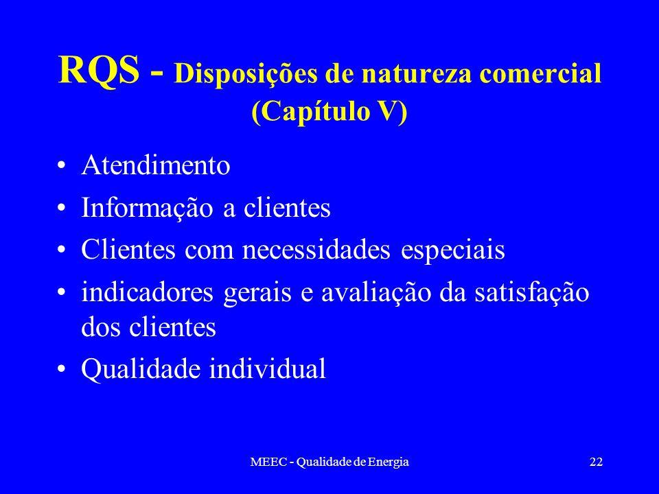 RQS - Disposições de natureza comercial (Capítulo V)