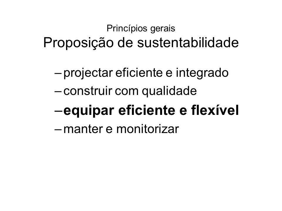 Princípios gerais Proposição de sustentabilidade