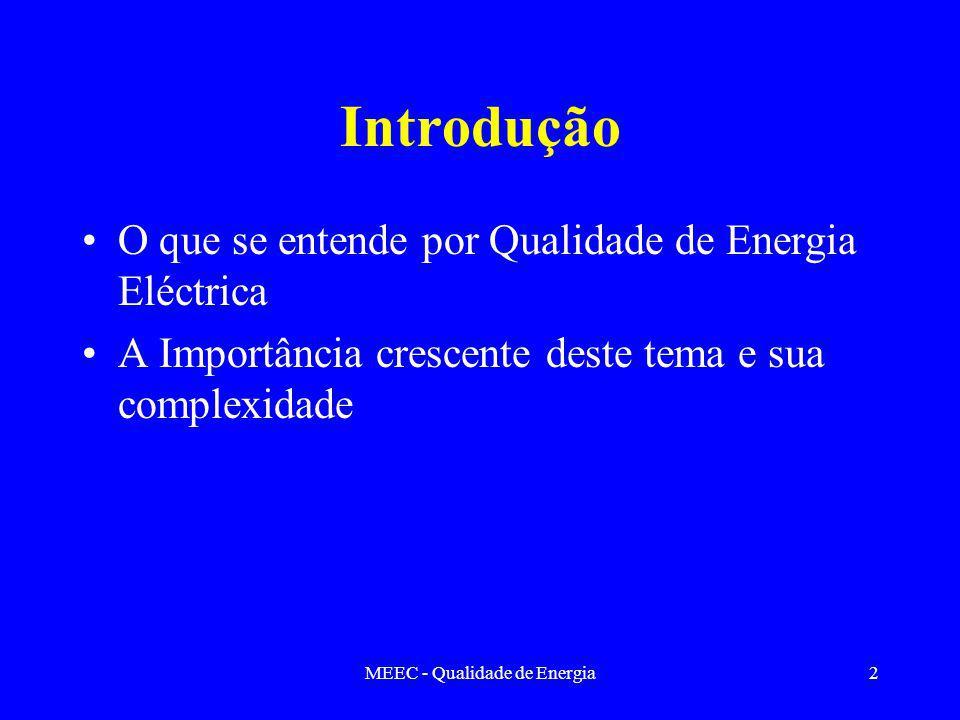 MEEC - Qualidade de Energia