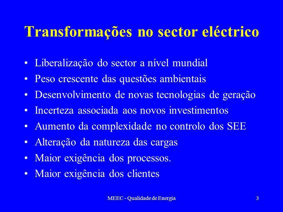 Transformações no sector eléctrico
