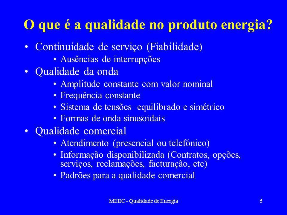 O que é a qualidade no produto energia