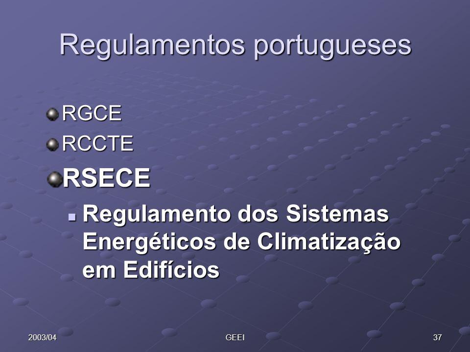 Regulamentos portugueses
