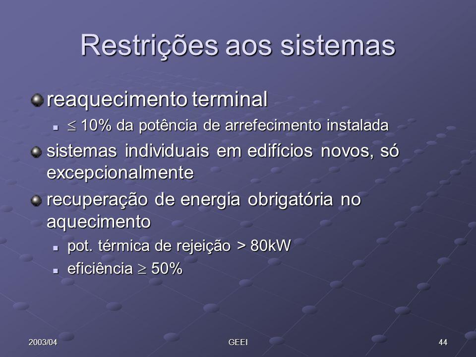 Restrições aos sistemas
