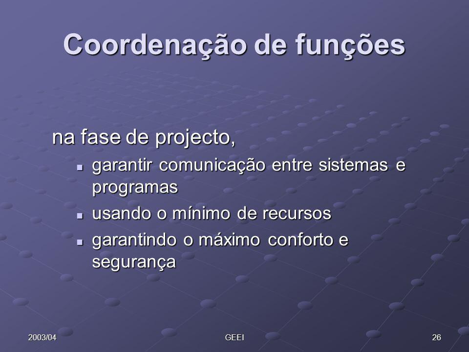 Coordenação de funções