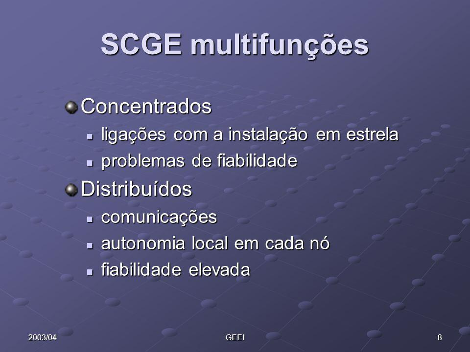 SCGE multifunções Concentrados Distribuídos