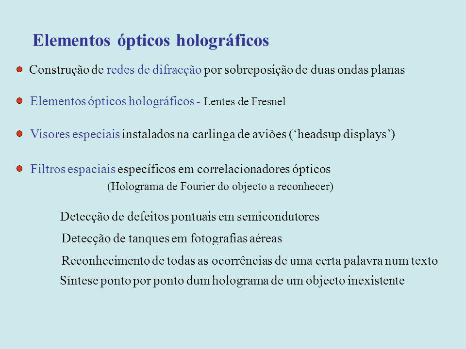 Elementos ópticos holográficos