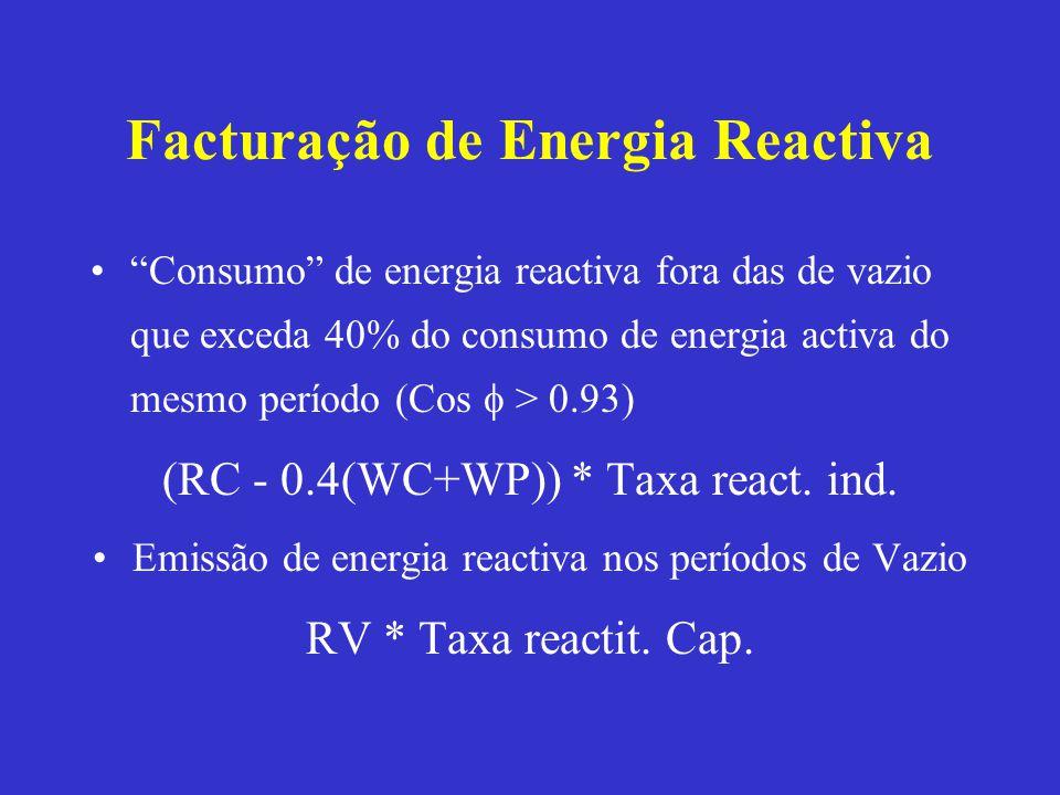 Facturação de Energia Reactiva