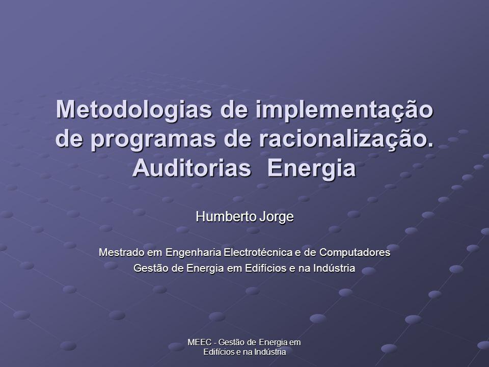 Metodologias de implementação de programas de racionalização