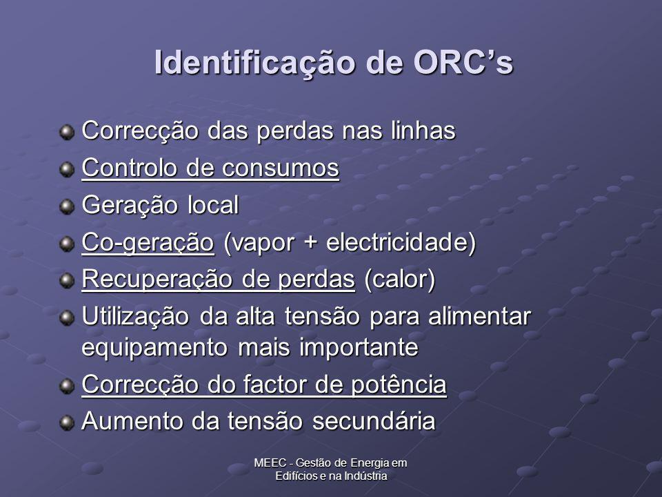 Identificação de ORC's