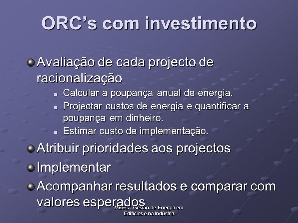 ORC's com investimento