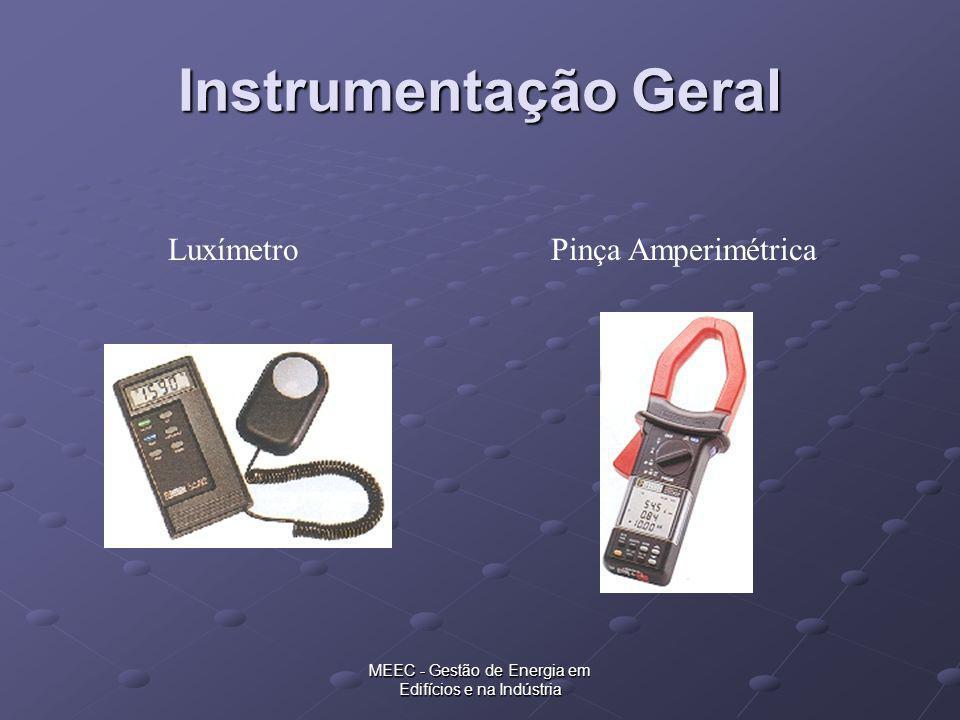 Instrumentação Geral Luxímetro Pinça Amperimétrica