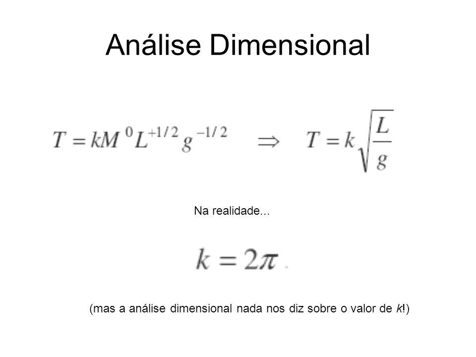 Análise Dimensional Na realidade...