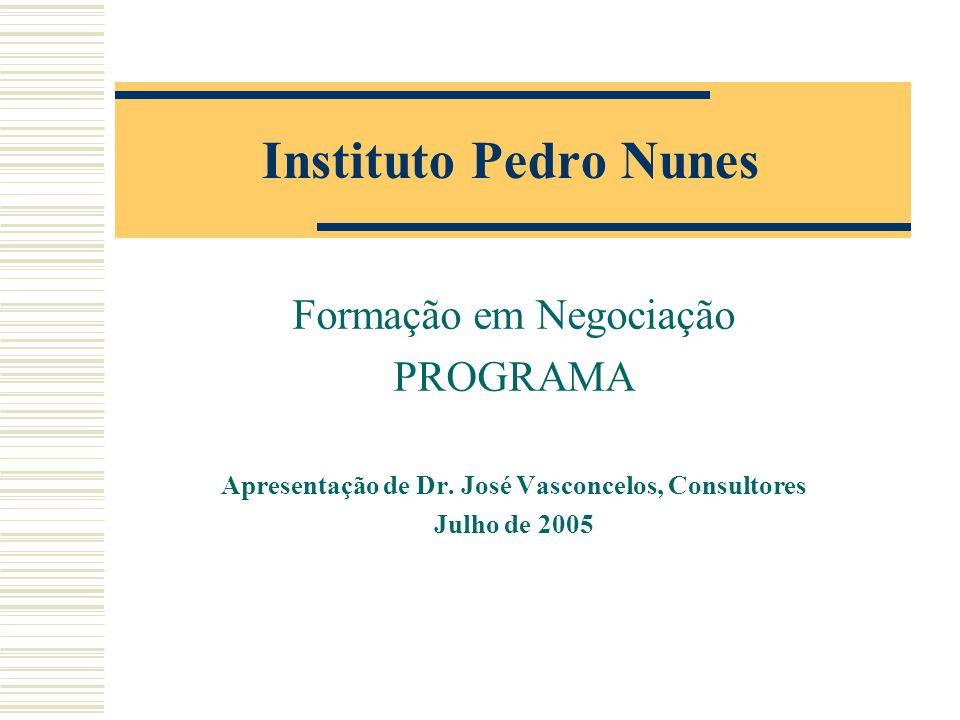 Apresentação de Dr. José Vasconcelos, Consultores