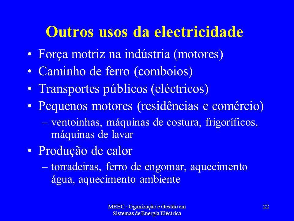 Outros usos da electricidade