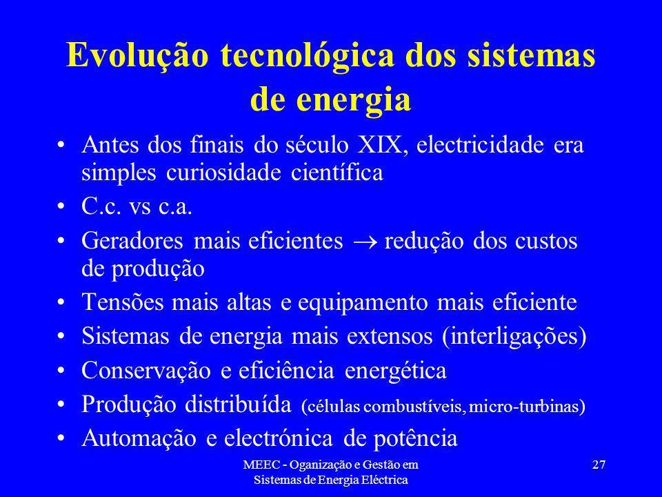 Evolução tecnológica dos sistemas de energia
