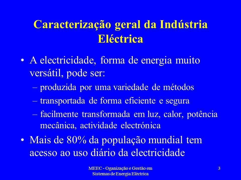 Caracterização geral da Indústria Eléctrica
