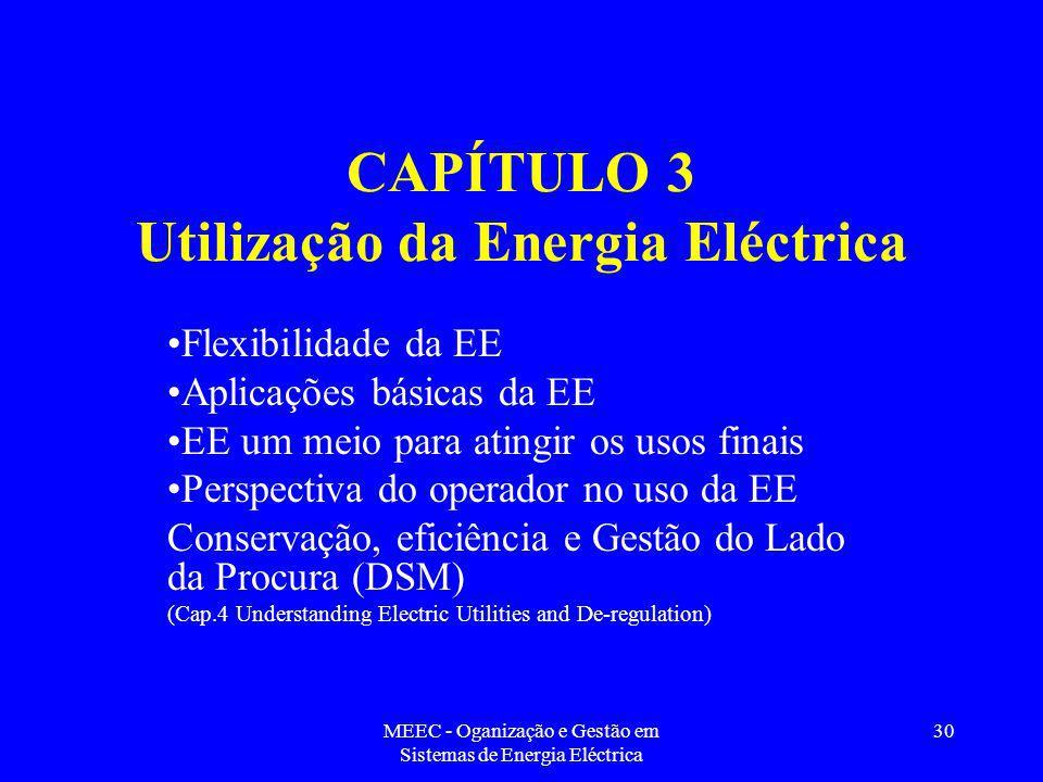 CAPÍTULO 3 Utilização da Energia Eléctrica