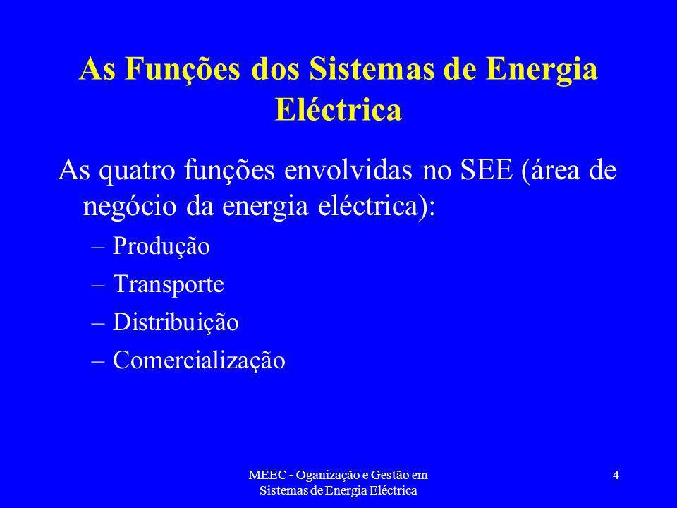 As Funções dos Sistemas de Energia Eléctrica