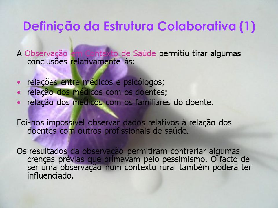 Definição da Estrutura Colaborativa (1)