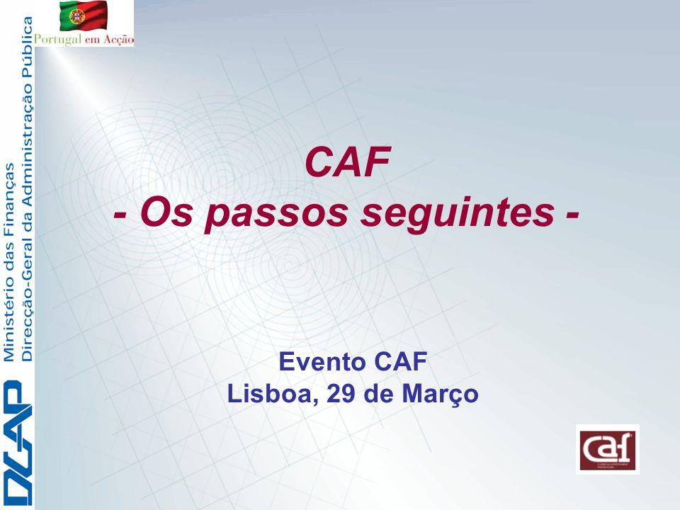 Evento CAF Lisboa, 29 de Março