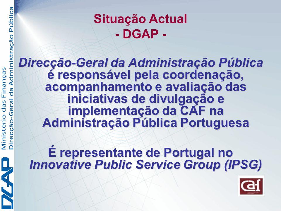 Situação Actual - DGAP -