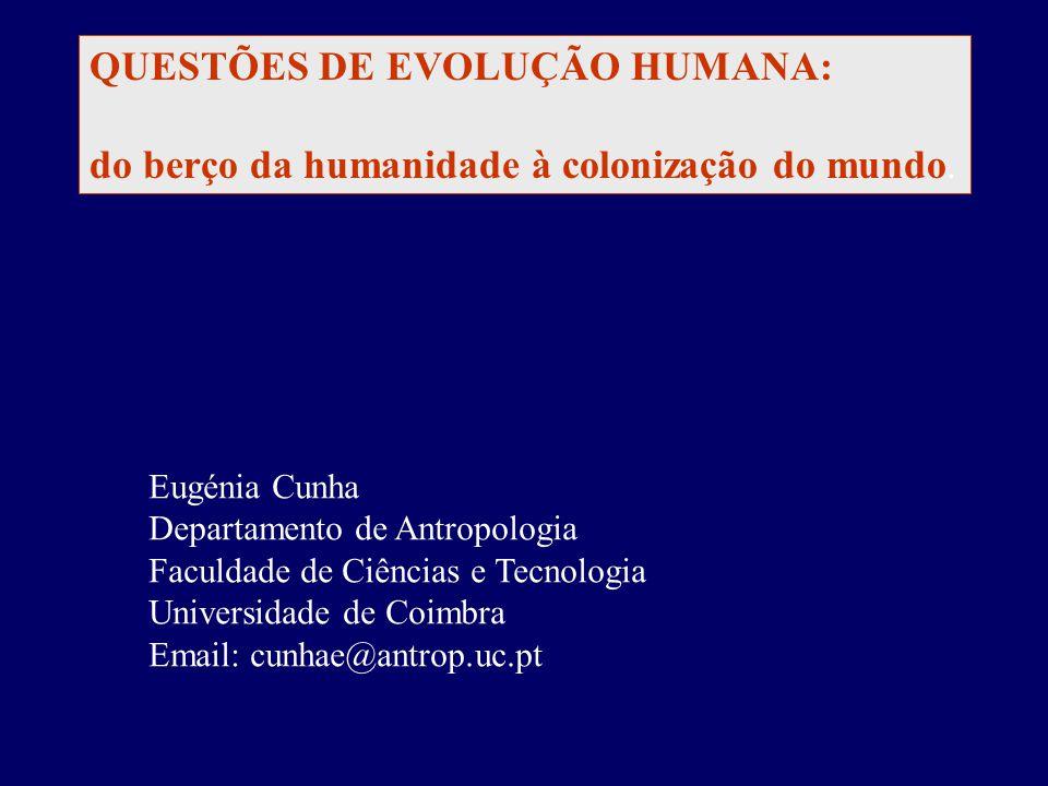 QUESTÕES DE EVOLUÇÃO HUMANA: