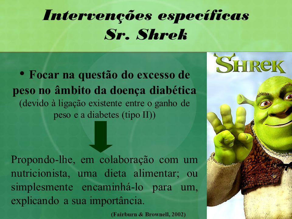 Intervenções específicas Sr. Shrek