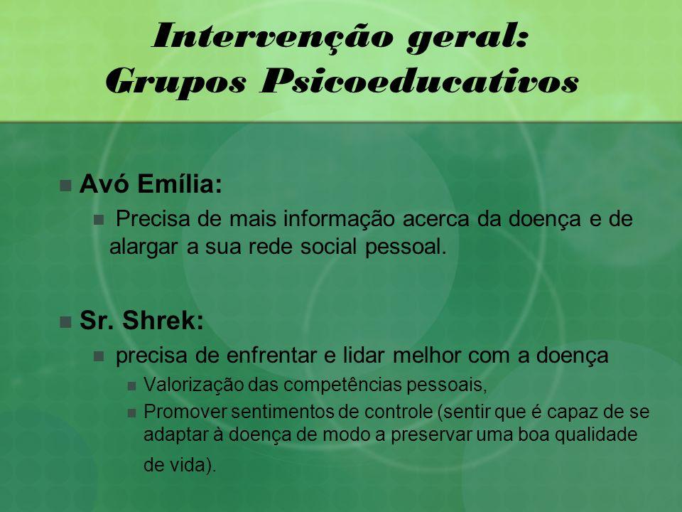 Intervenção geral: Grupos Psicoeducativos