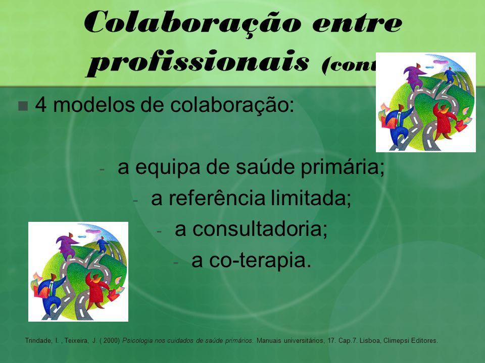 Colaboração entre profissionais (cont.)