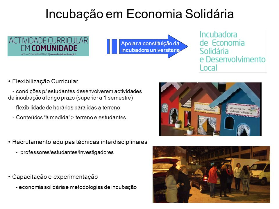 Incubação em Economia Solidária