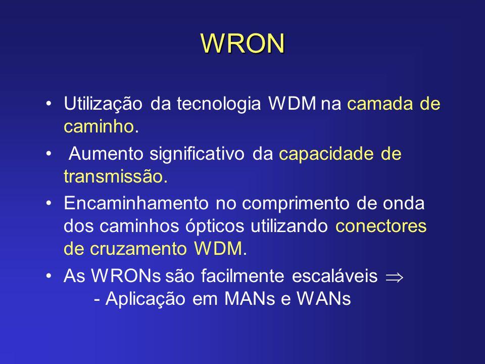 WRON Utilização da tecnologia WDM na camada de caminho.