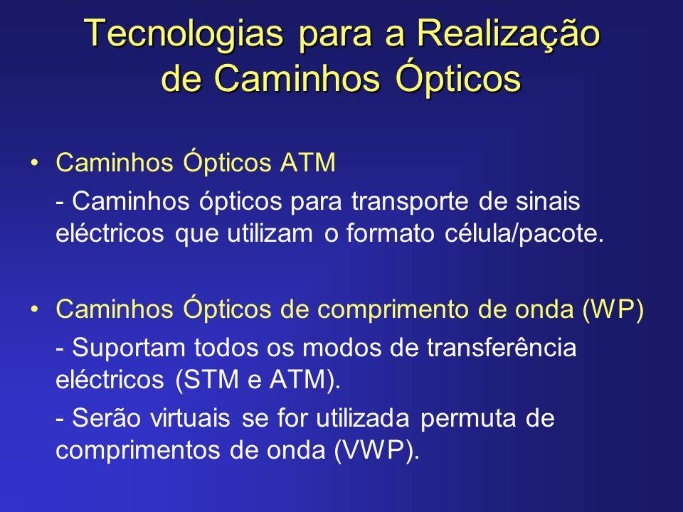 Tecnologias para a Realização de Caminhos Ópticos