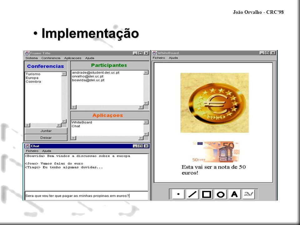 João Orvalho - CRC 98 Implementação Unified Modeling Language (UML)
