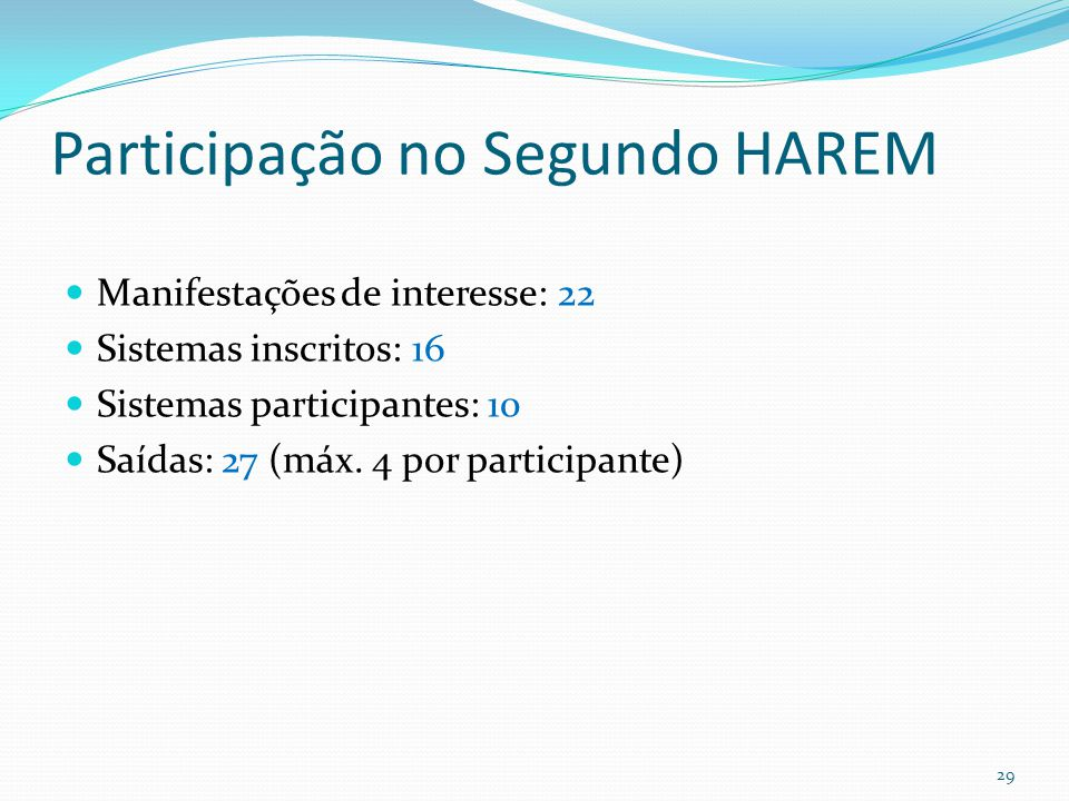 Participação no Segundo HAREM