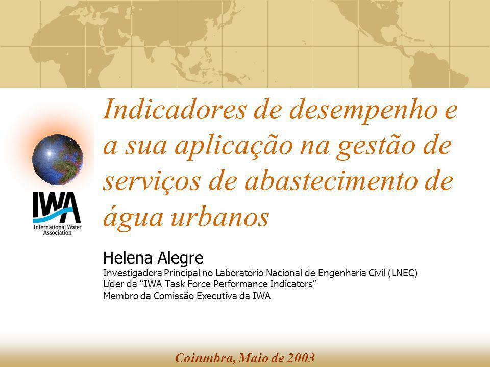 Indicadores de desempenho e a sua aplicação na gestão de serviços de abastecimento de água urbanos