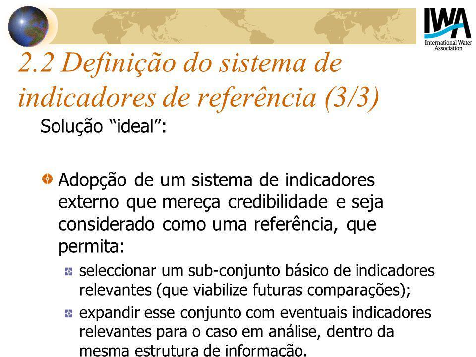 2.2 Definição do sistema de indicadores de referência (3/3)