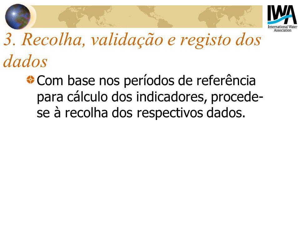 3. Recolha, validação e registo dos dados