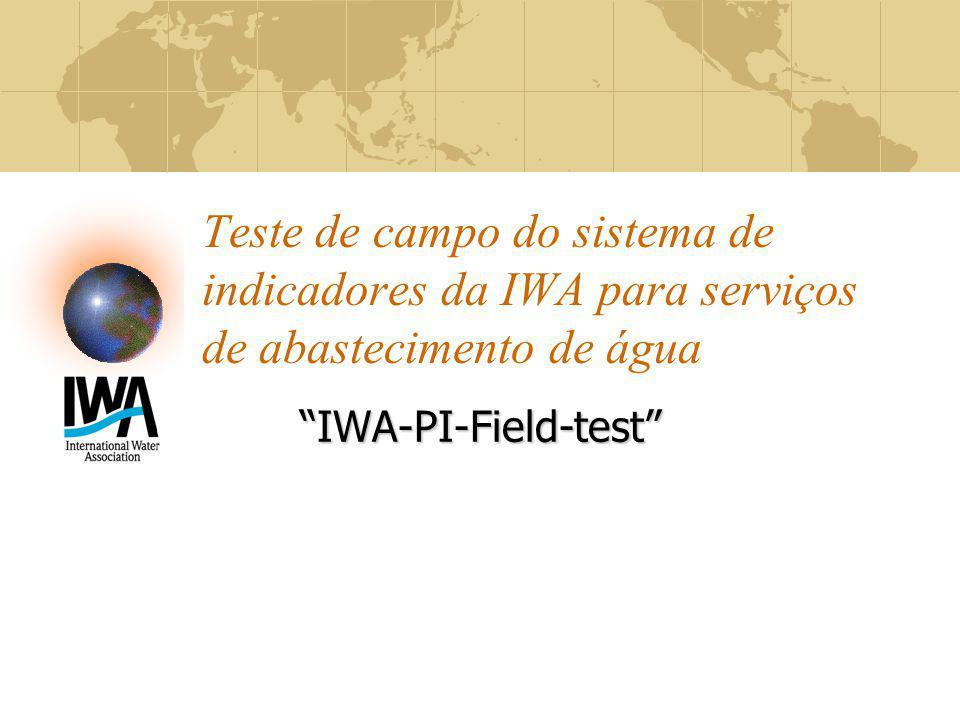 Teste de campo do sistema de indicadores da IWA para serviços de abastecimento de água