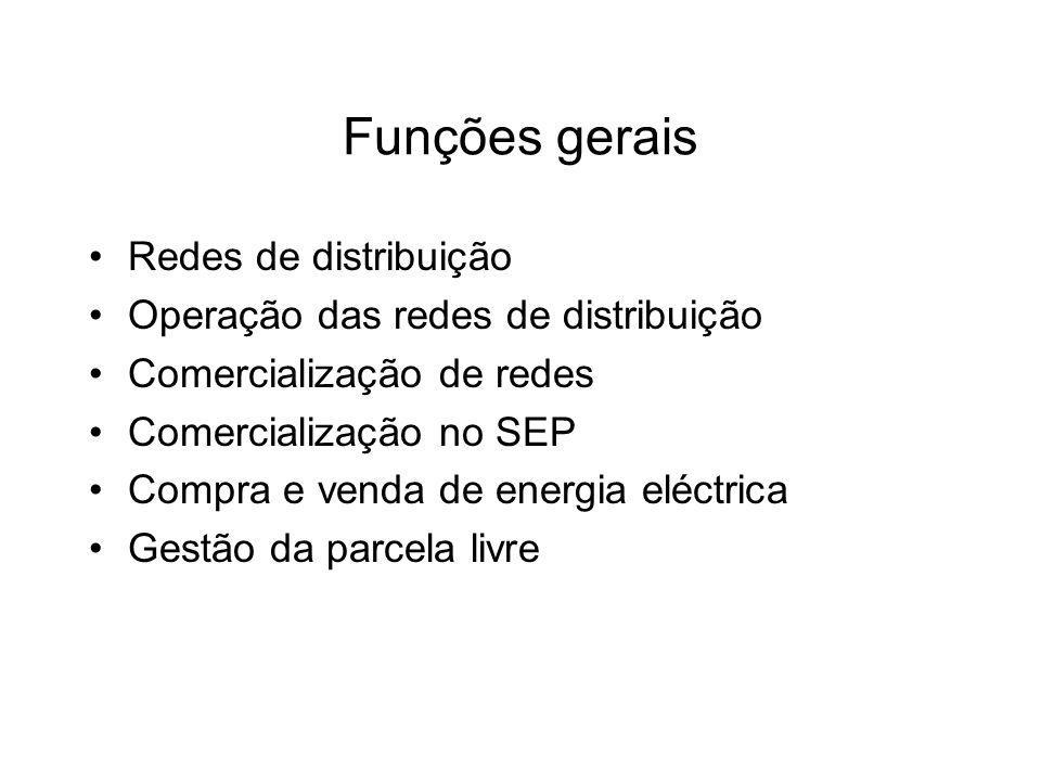 Funções gerais Redes de distribuição