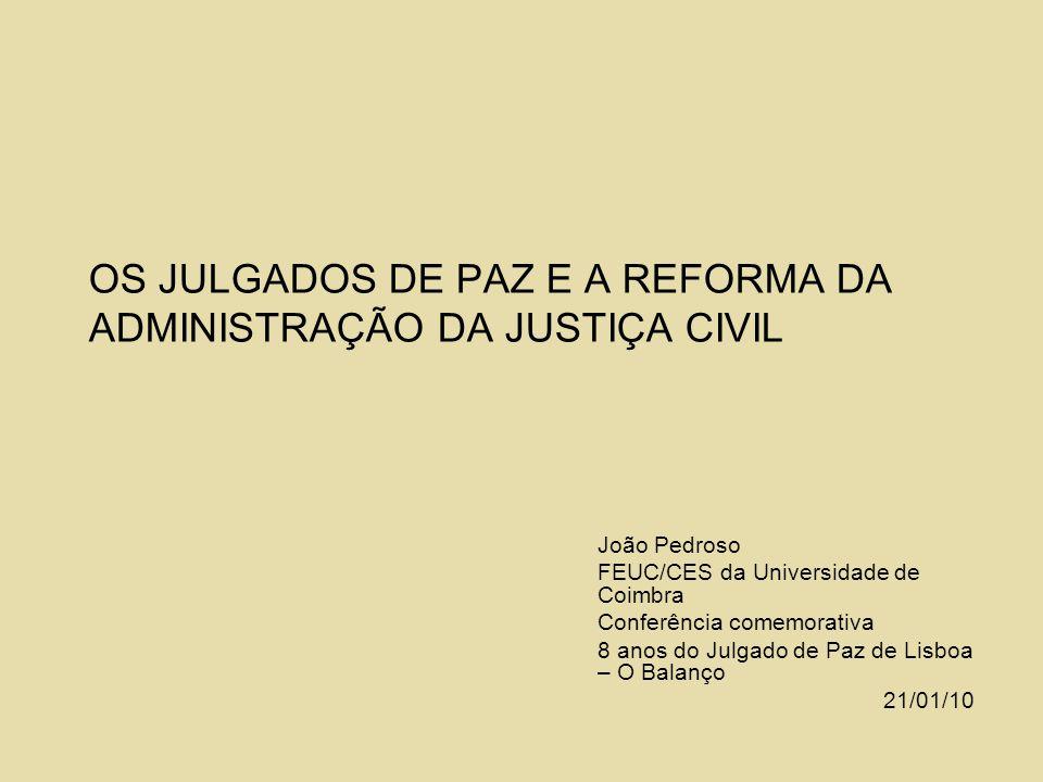 OS JULGADOS DE PAZ E A REFORMA DA ADMINISTRAÇÃO DA JUSTIÇA CIVIL