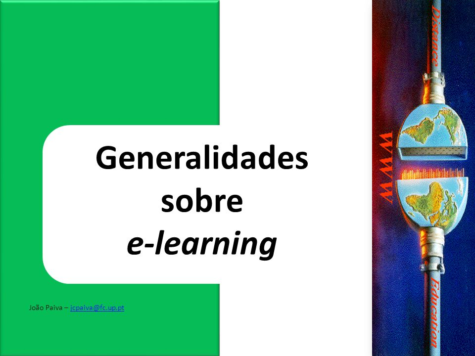 Generalidades sobre e-learning
