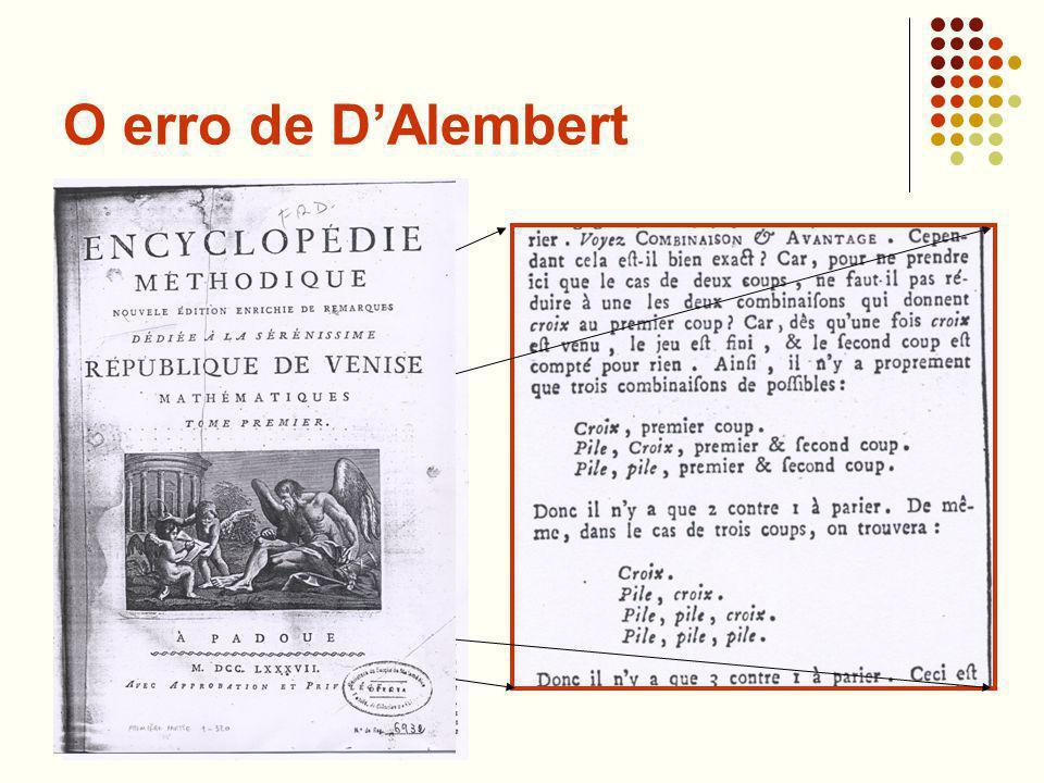 O erro de D'Alembert