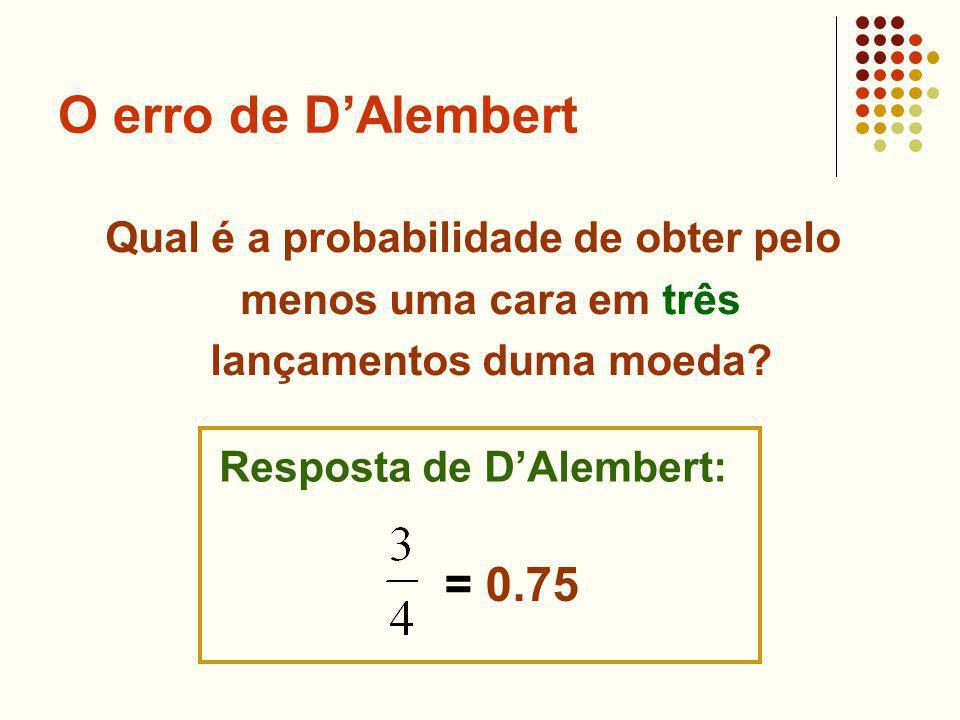 Resposta de D'Alembert: