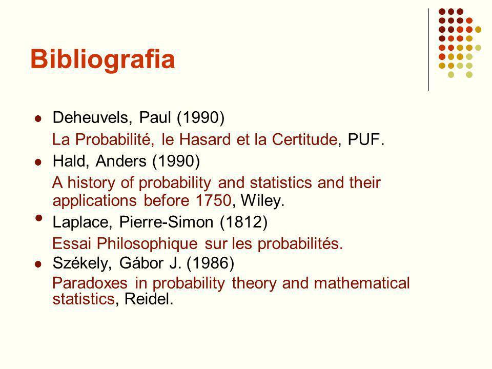 Bibliografia Deheuvels, Paul (1990)