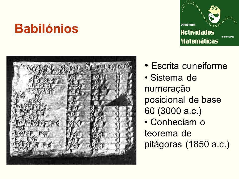 Babilónios Escrita cuneiforme