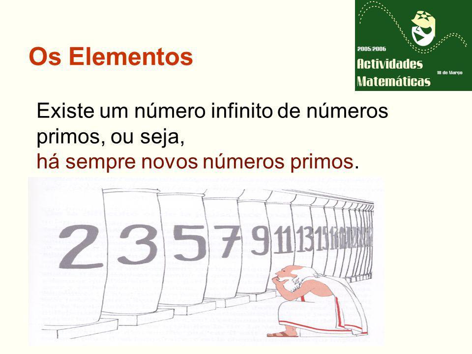 Os Elementos Existe um número infinito de números primos, ou seja,