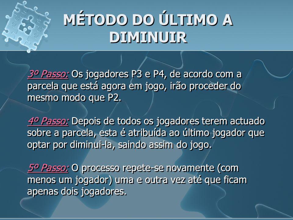 MÉTODO DO ÚLTIMO A DIMINUIR
