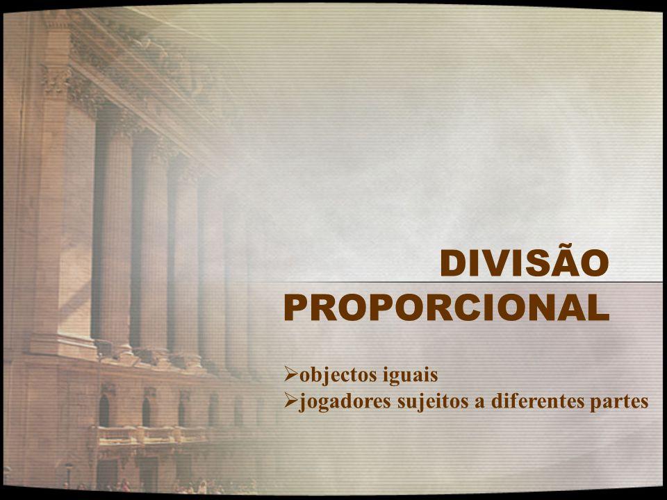 DIVISÃO PROPORCIONAL objectos iguais