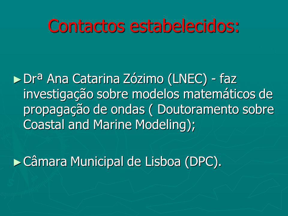 Contactos estabelecidos: